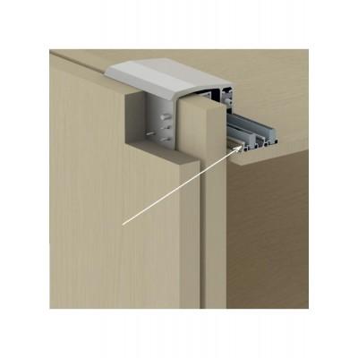 Алуминиева горна релса за механизъм за плъзгащи врати с горно водене 8220 - ALBATUR