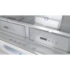 GOURMET комбиниран хладилник, свободностоящ, LongLife No Frost, А++ ЧЕРНО СТЪКЛО - ТЕКА