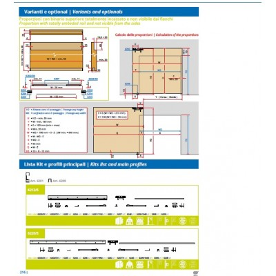 Механизъм за интериорна плъзгаща се врата със скрита релса - Villes 2000 - Цена: 450.00 лв.
