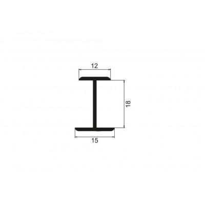Алуминиев профил разделителен Н-образен - Цена: 7.32 лв.