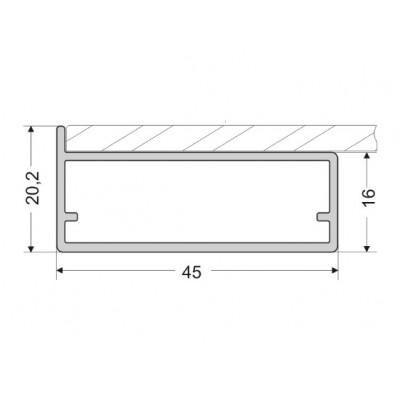 Алуминиев профил за витрини Z11