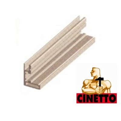 Алуминиев профил за витрина 28х20 - CINETTO ITALY - Цена: 43.92 лв.