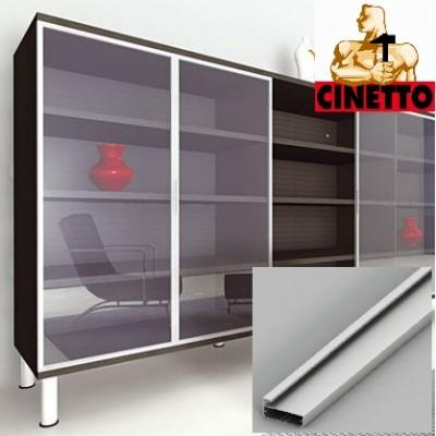 Алуминиев профил за витрина 40х20 - CINETTO ITALY - Цена: 87.84 лв.