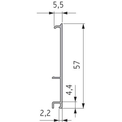 Профил лицев, L = 4,2 M, 60мм - VOLPATO ITALY - Цена: 35.53 лв.