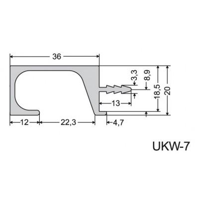 Кухненска кант дръжка UKW 7 - ZOBAL Плоша - Цена: 54.00 лв.