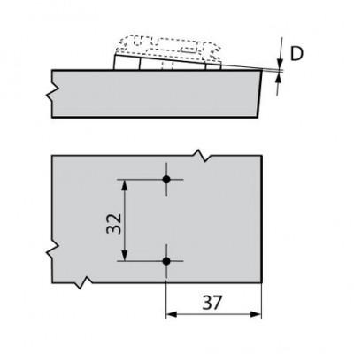 Мебелна панта CLIP top врата и страница под ъгъл +35° - BLUM - Цена: 7.73 лв.