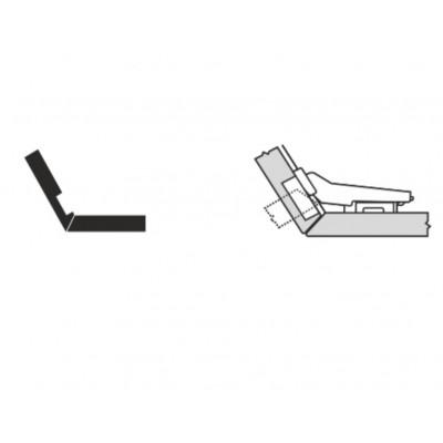 Мебелна панта CLIP top врата и страница под ъгъл +30° - BLUM - Цена: 6.64 лв.