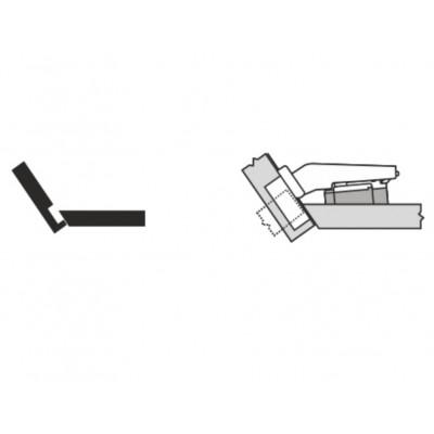 Мебелна панта CLIP top максимално покрит кант на скосена страница +35° - BLUM - Цена: 7.94 лв.