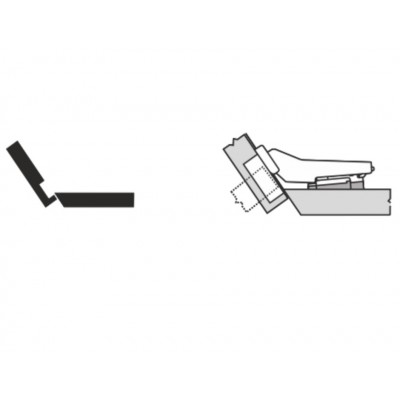 Мебелна панта CLIP top покрит кант на скосена страница +35° - BLUM - Цена: 7.39 лв.