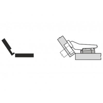 Мебелна панта CLIP top полупокрит кант на права страница +35° - BLUM - Цена: 7.94 лв.