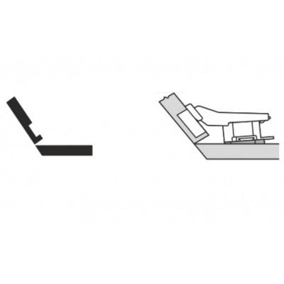 Мебелна панта CLIP top открит кант на скосена страница +35° - BLUM - Цена: 9.37 лв.