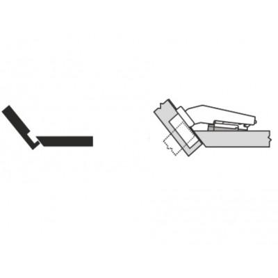 Мебелна панта CLIP top максимално покрит кант на скосена страница +40° - BLUM - Цена: 7.57 лв.