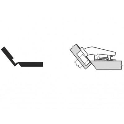 Мебелна панта CLIP top покрит кант на скосена страница +40° - BLUM - Цена: 8.54 лв.