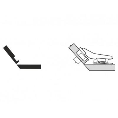Мебелна панта CLIP top открит кант на скосена страница +40° - BLUM - Цена: 8.68 лв.