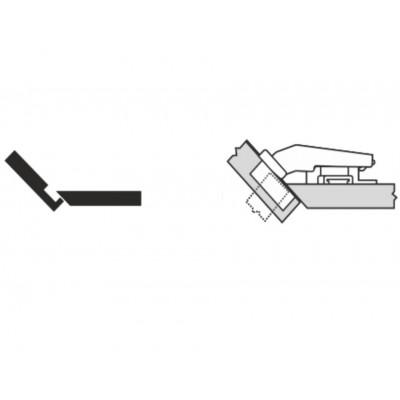Мебелна панта CLIP top максимално покрит кант на скосена страница +45° - BLUM - Цена: 7.48 лв.