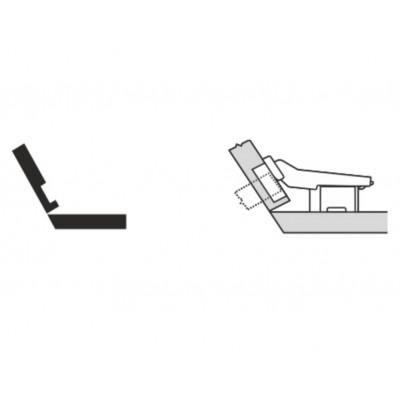 Мебелна панта CLIP top открит кант на скосена страница +30° - BLUM - Цена: 8.48 лв.