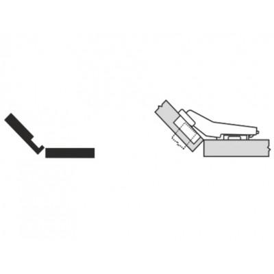Мебелна панта CLIP top полупокрит кант на права страница +45° - BLUM - Цена: 6.50 лв.