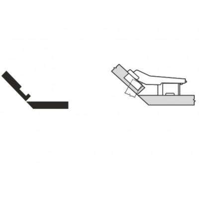 Мебелна панта CLIP top открит кант на скосена страница +45° - BLUM - Цена: 8.48 лв.