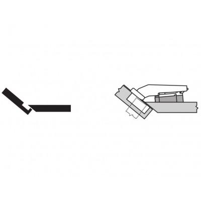 Мебелна панта CLIP top максимално покрит кант на скосена страница +50° - BLUM - Цена: 7.94 лв.
