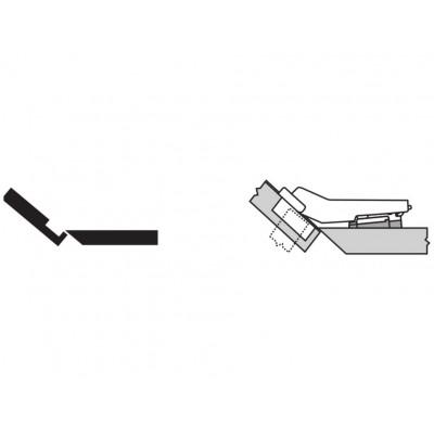Мебелна панта CLIP top покрит кант на скосена страница +50° - BLUM - Цена: 7.39 лв.