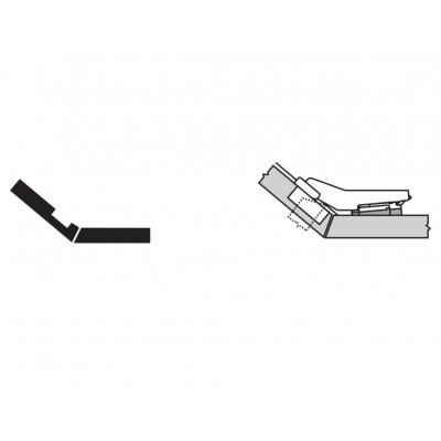 Мебелна панта CLIP top врата и страница под ъгъл +50° - BLUM - Цена: 7.39 лв.