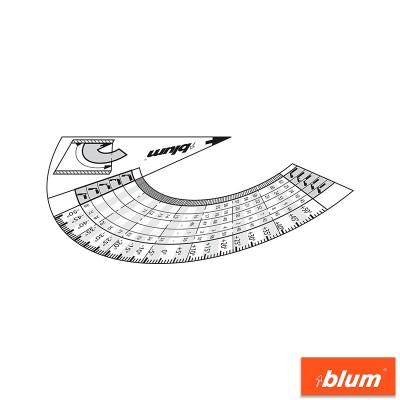 Шаблон ПИТАГОР за ъглови панти - BLUM - Цена: 7.06 лв.