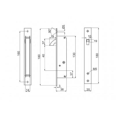 Брава за пл.врата спец.ключ 533.20-1ТЗ - Цена: 12.00 лв.