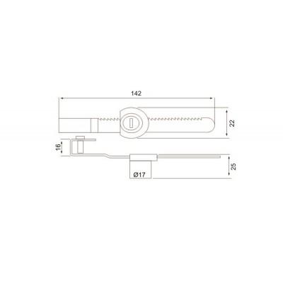 Ключалка за плъзгащо стъкло - Цена: 1.68 лв.