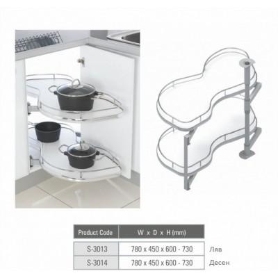 Изтегляща се система за сляп ъгъл овална - STARAX - Цена: 315.00 лв.