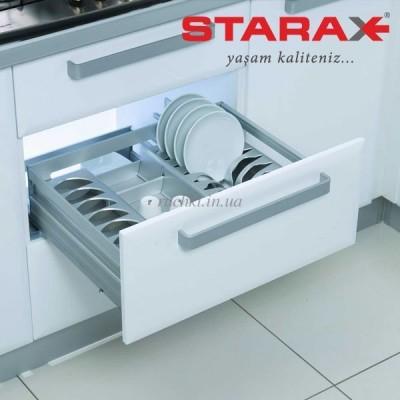 Алуминиево чекмедже с прегради с пълно изтегляне и плавно прибиране - STARAX - Цена: 127.50 лв.