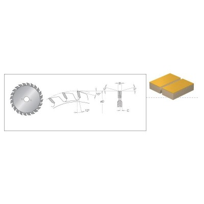 906.00.104 Подрезвач съст. Ф100/2.8-3.6/22 Z12+12 DIMAR