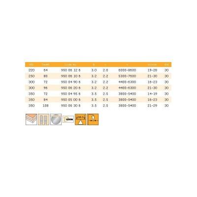 950.06.306 Диск Ф350/3.5/30 Z-108 D-MAX DIMAR за ПДЧ