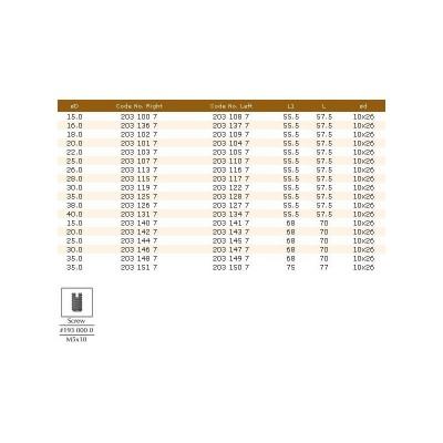 203.10.37 HM свредло за панти D22 LT57.5 RH DIMAR - Цена: 37.50 лв.