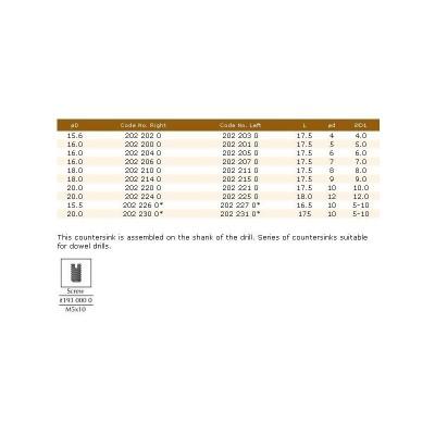 202.22.10 HM конусен зенкер d10 D20 LH DIMAR - Цена: 32.04 лв.