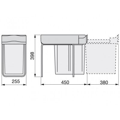 Кошче за вграждане 21L шкаф 300 мм - EMUCA - Цена: 75.00 лв.