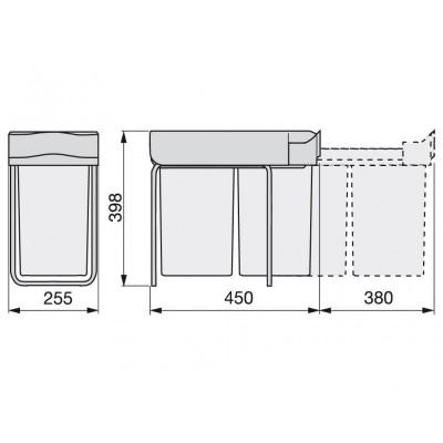 Кошче за вграждане 2X14L шкаф 300 мм - EMUCA - Цена: 79.80 лв.