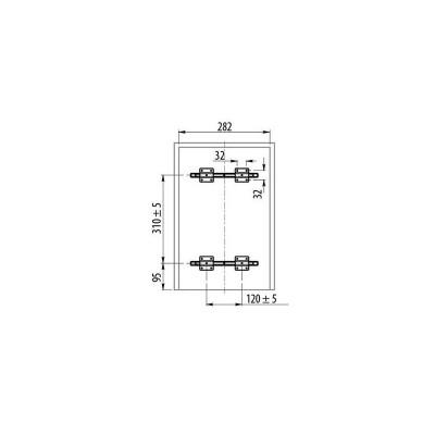 Кошче за разделно събиране за вграждане 20+10L шкаф 300 мм - GTV - Цена: 107.10 лв.