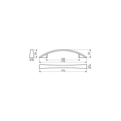 Мебелна дръжка UN37 128 мм - GAMET - Цена: 1.98 лв.