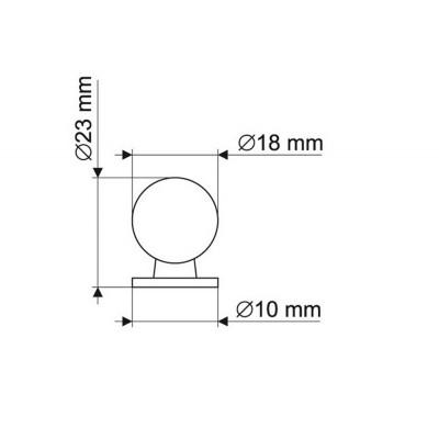 Мебелна дръжка GN34 - GAMET - Цена: 1.56 лв.