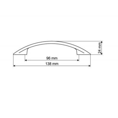Мебелна дръжка UN90 96мм - GAMET - Цена: 3.00 лв.