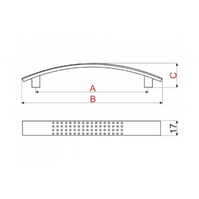 Мебелна дръжка UX87 PVC - GAMET - Цена: 0.90 лв.