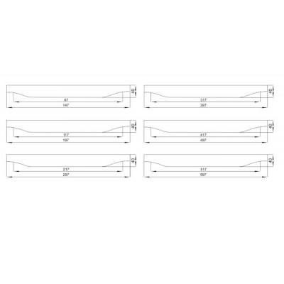 Мебелна дръжка 1202 - Цена: 8.40 лв.