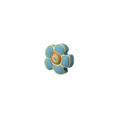 Детска гумирана дръжка - цвете синьо - Цена: 2.40 лв.