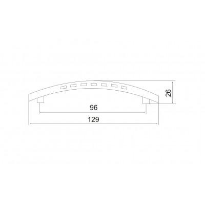 Мебелна дръжка 5150 96 мм - OZKM - Цена: 2.40 лв.