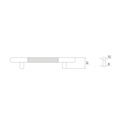 Дръжка алуминиева надлъжна - Цена: 1.80 лв.