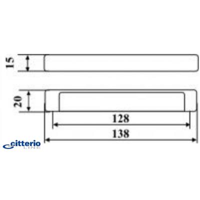 Мебелна дръжка 301/11 - Citterio Line(Italy) - Цена: 9.60 лв.