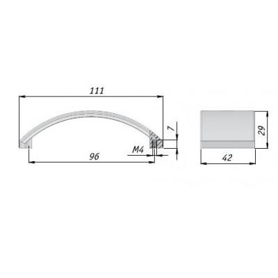 Мебелна дръжка 367/11 - Citterio line(Italy) - Цена: 10.20 лв.