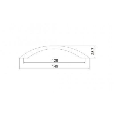 Мебелна дръжка 5017 - 128мм - Цена: 1.32 лв.