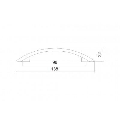 Мебелна дръжка 5075 - 96 мм - Цена: 2.40 лв.