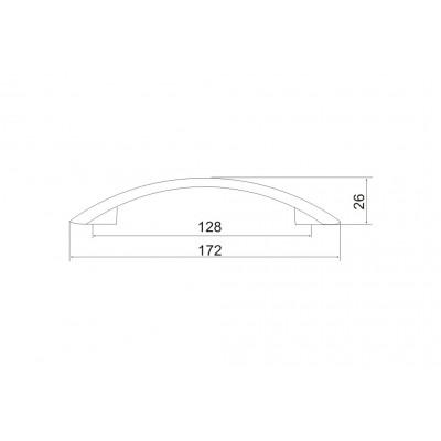 Мебелна дръжка 5076 - 128мм - Цена: 2.62 лв.